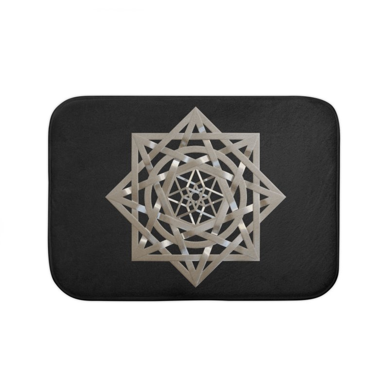8:8 Tesseract Stargate Silver Home Bath Mat by diamondheart's Artist Shop