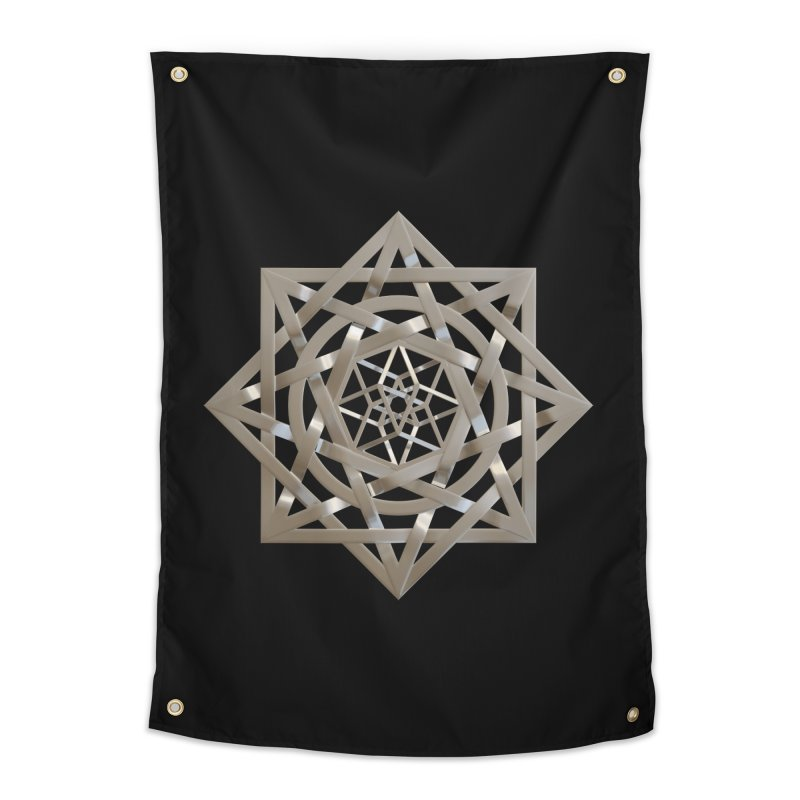 8:8 Tesseract Stargate Silver Home Tapestry by diamondheart's Artist Shop