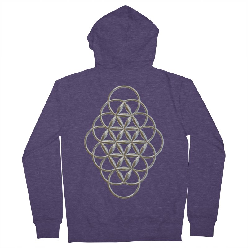 Seed of Love Ag Men's French Terry Zip-Up Hoody by diamondheart's Artist Shop