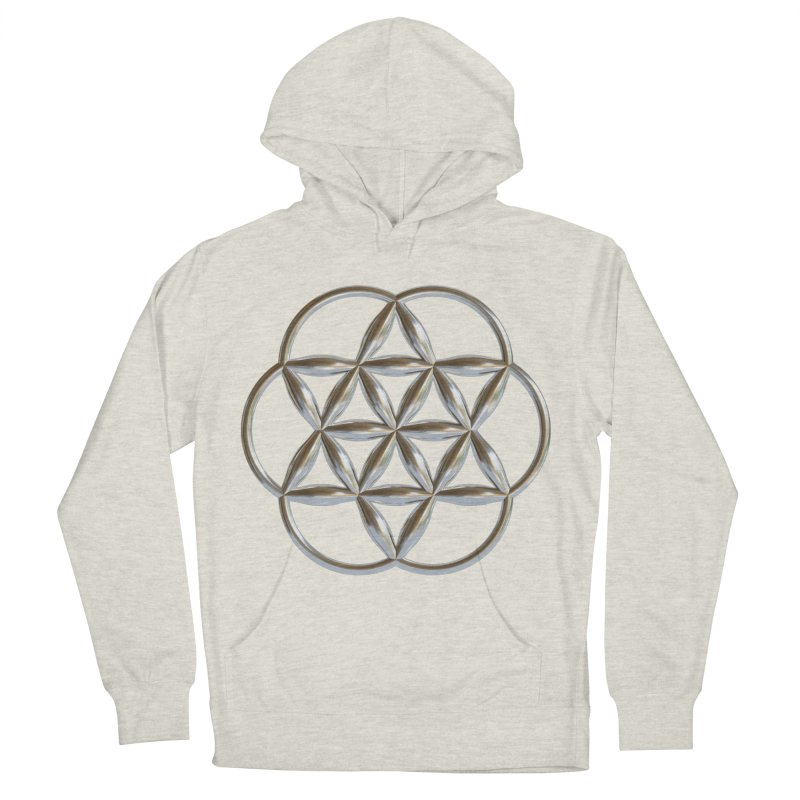 Flowering Seed of Life Ag Women's French Terry Pullover Hoody by diamondheart's Artist Shop