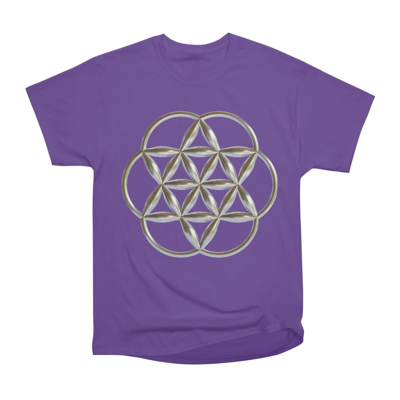 Flowering Seed of Life Ag Women's Heavyweight Unisex T-Shirt by diamondheart's Artist Shop