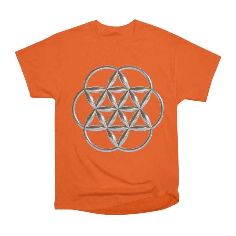 Flowering Seed of Life Ag Men's Heavyweight T-Shirt by diamondheart's Artist Shop