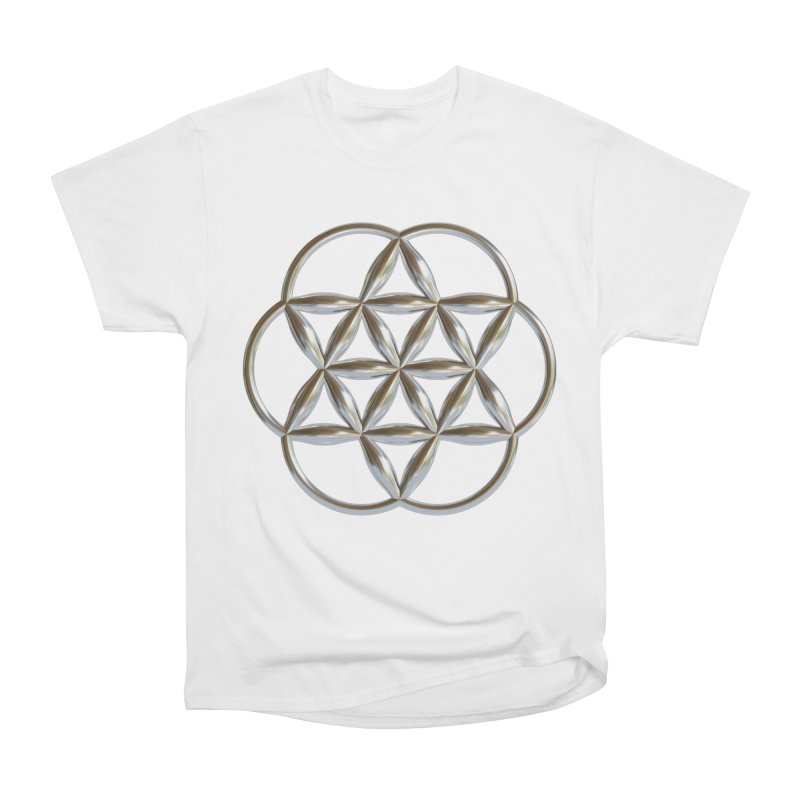 Flowering Seed of Life Ag Women's Heavyweight Unisex T-Shirt by diamondheart's Artist Shop