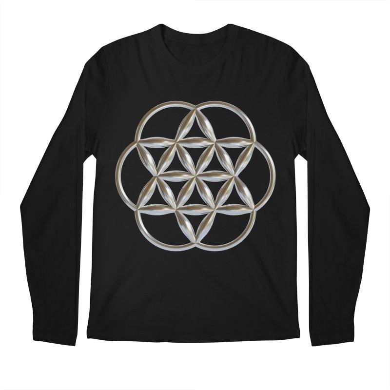 Flowering Seed of Life Ag Men's Regular Longsleeve T-Shirt by diamondheart's Artist Shop