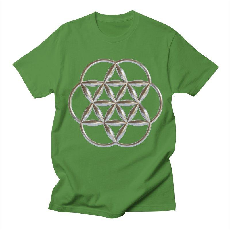 Flowering Seed of Life Ag Women's Regular Unisex T-Shirt by diamondheart's Artist Shop