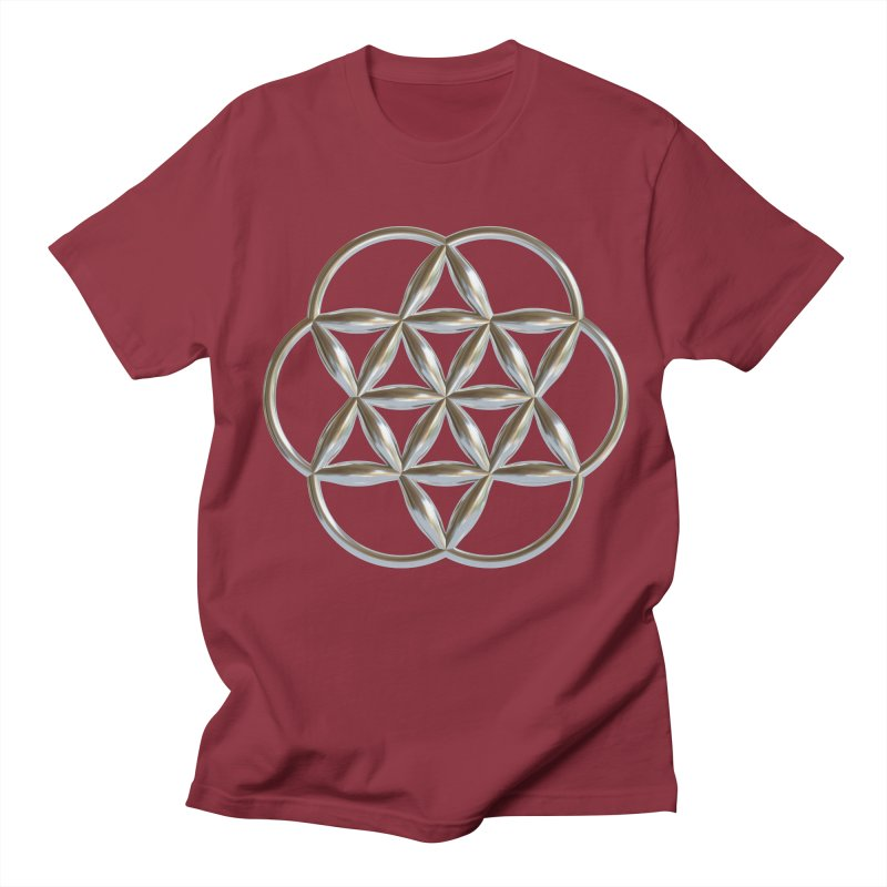 Flowering Seed of Life Ag Women's Regular Unisex T-Shirt by diamondheart's Artist Shop
