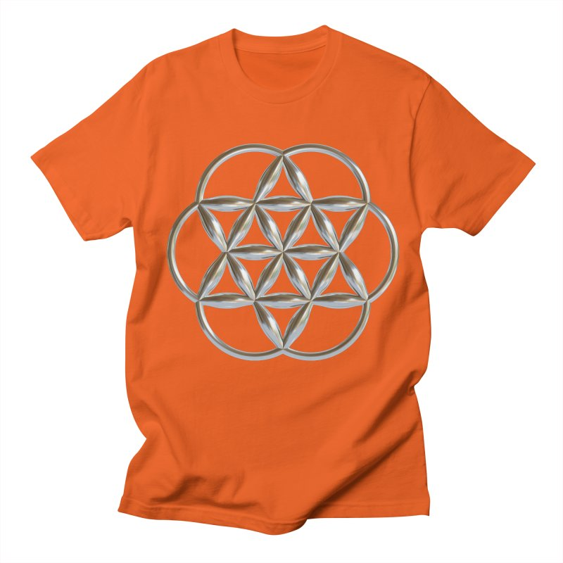 Flowering Seed of Life Ag Men's Regular T-Shirt by diamondheart's Artist Shop