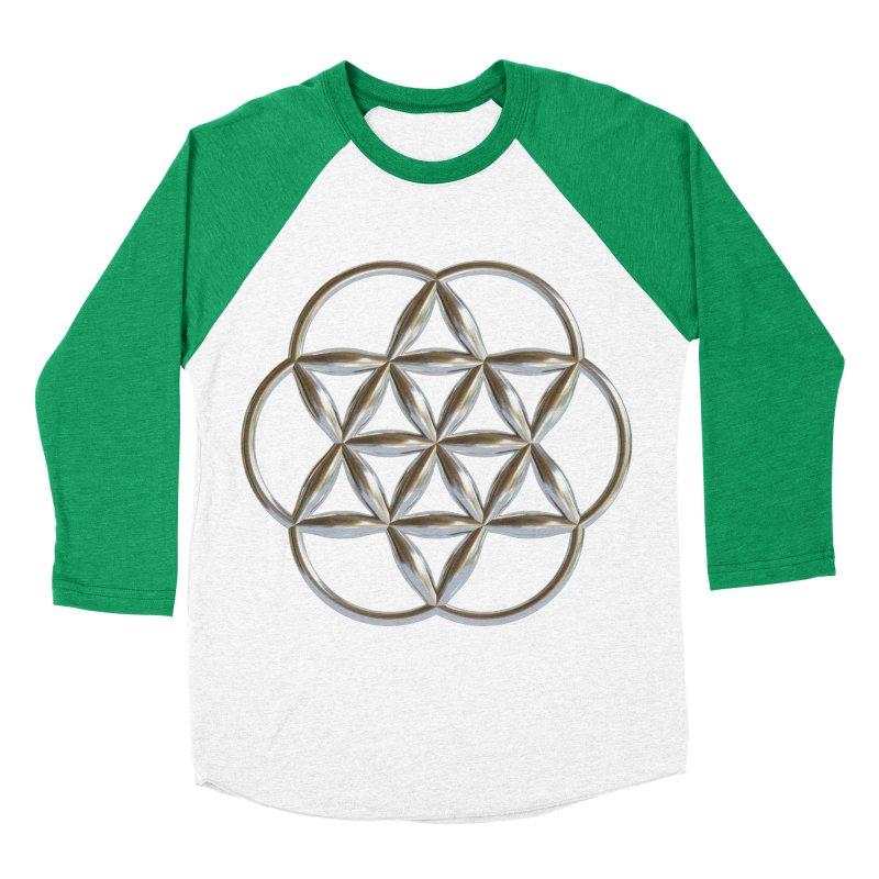 Flowering Seed of Life Ag Women's Baseball Triblend Longsleeve T-Shirt by diamondheart's Artist Shop
