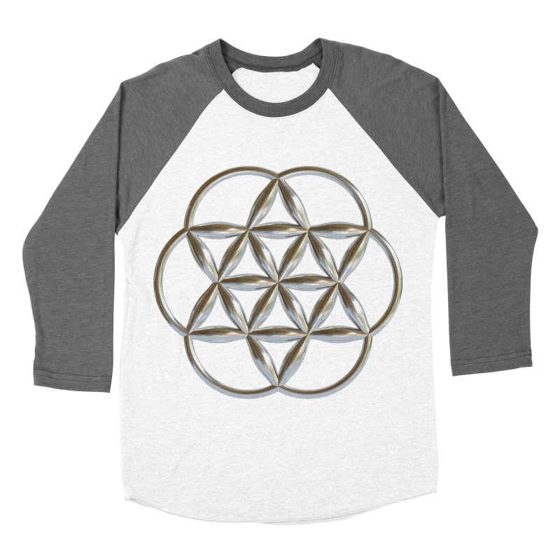 Flowering Seed of Life Ag Men's Baseball Triblend Longsleeve T-Shirt by diamondheart's Artist Shop