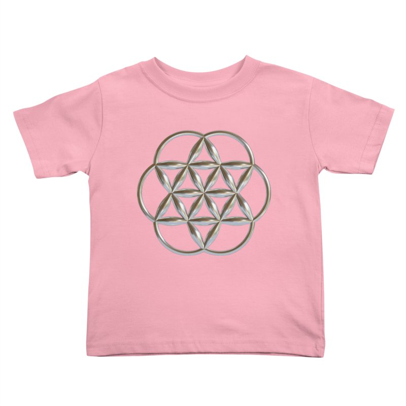 Flowering Seed of Life Ag Kids Toddler T-Shirt by diamondheart's Artist Shop
