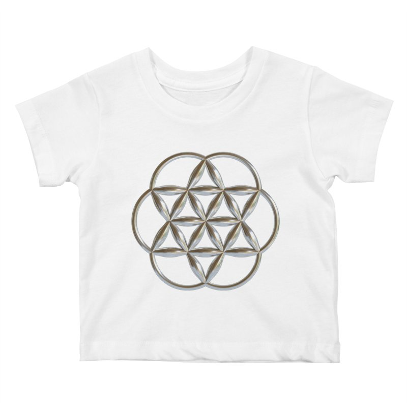 Flowering Seed of Life Ag Kids Baby T-Shirt by diamondheart's Artist Shop