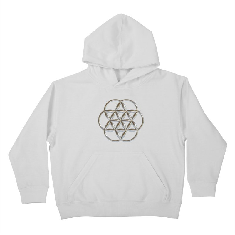 Flowering Seed of Life Ag Kids Pullover Hoody by diamondheart's Artist Shop