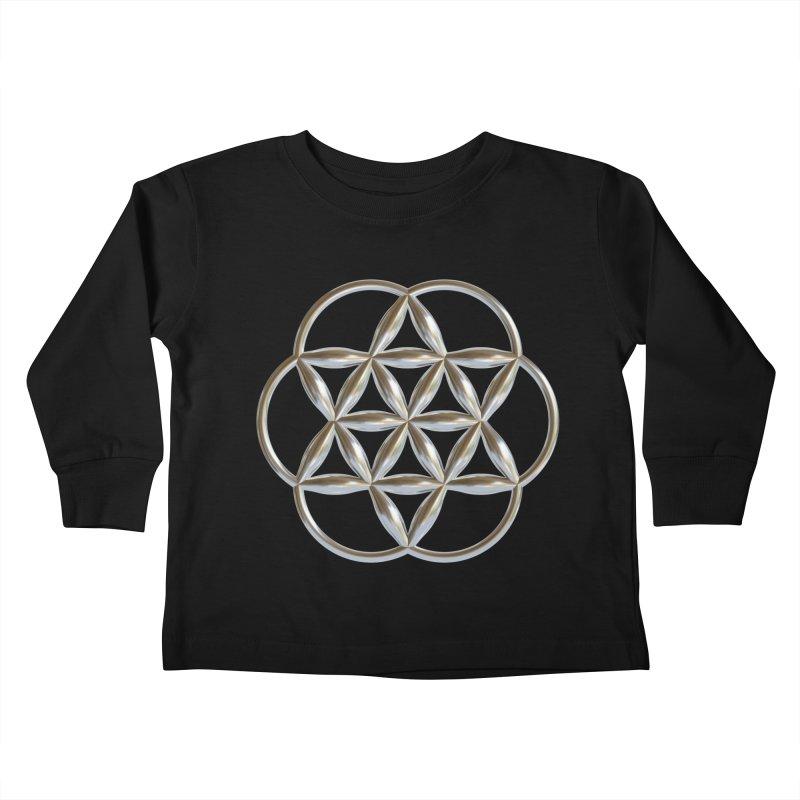 Flowering Seed of Life Ag Kids Toddler Longsleeve T-Shirt by diamondheart's Artist Shop