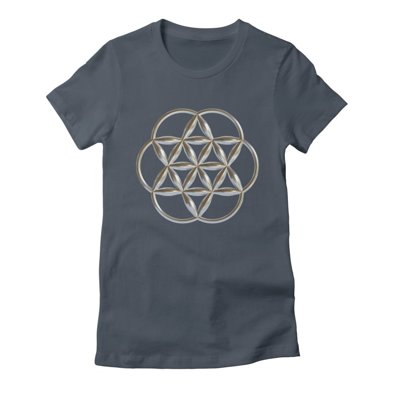 Flowering Seed of Life Ag Women's T-Shirt by diamondheart's Artist Shop