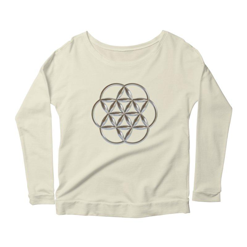 Flowering Seed of Life Ag Women's Scoop Neck Longsleeve T-Shirt by diamondheart's Artist Shop