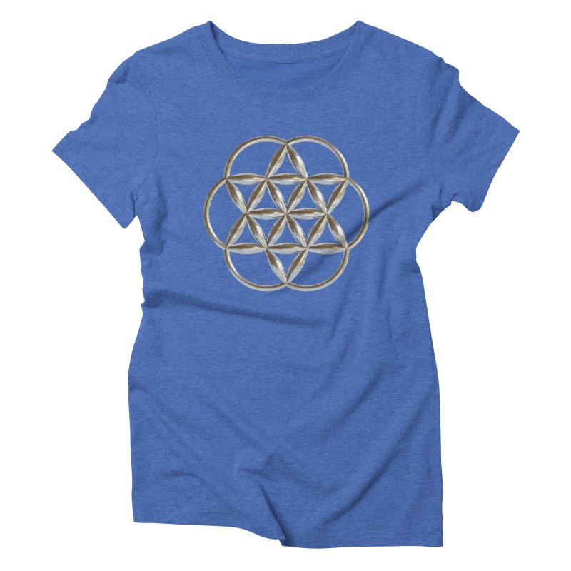 Flowering Seed of Life Ag Women's Triblend T-Shirt by diamondheart's Artist Shop