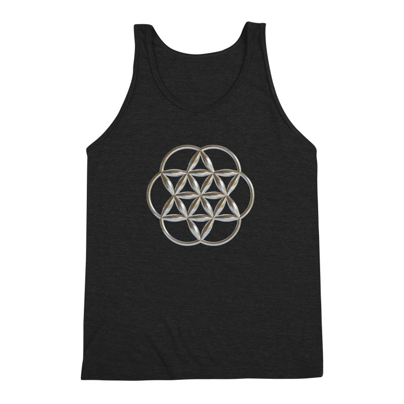 Flowering Seed of Life Ag Men's Tank by diamondheart's Artist Shop