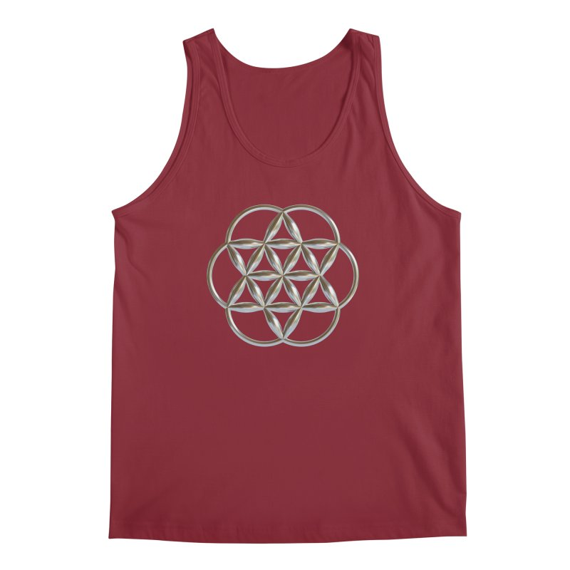 Flowering Seed of Life Ag Men's Regular Tank by diamondheart's Artist Shop