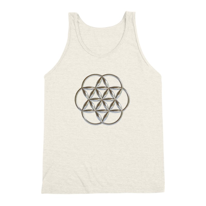 Flowering Seed of Life Ag Men's Triblend Tank by diamondheart's Artist Shop