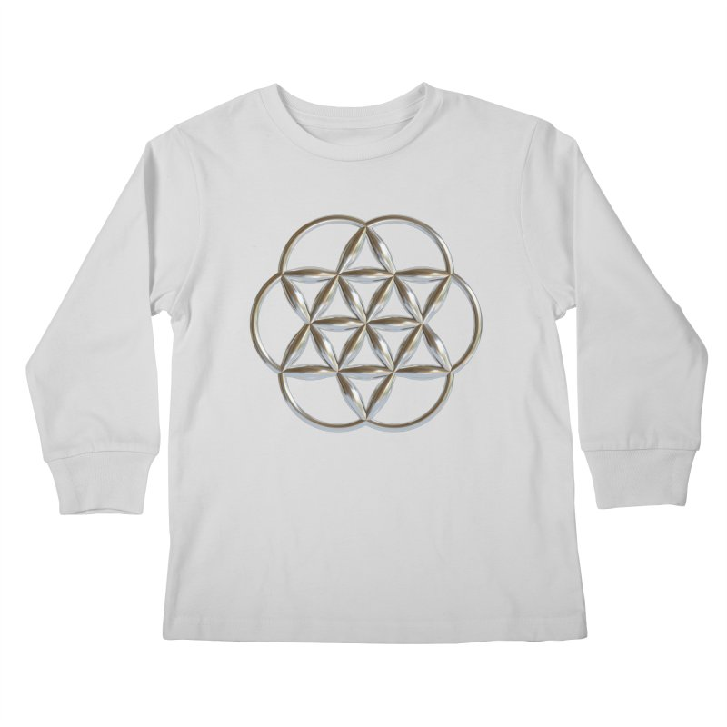 Flowering Seed of Life Ag Kids Longsleeve T-Shirt by diamondheart's Artist Shop