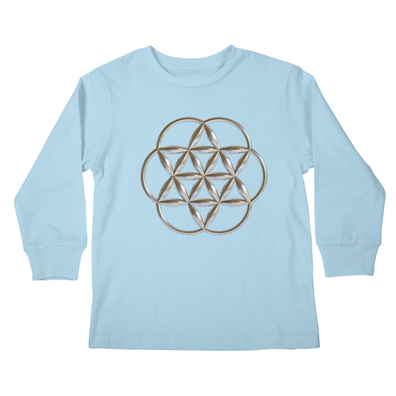 Flowering Seed of Life Ag Kids Longsleeve T-Shirt by diamondheart's Artist Shop