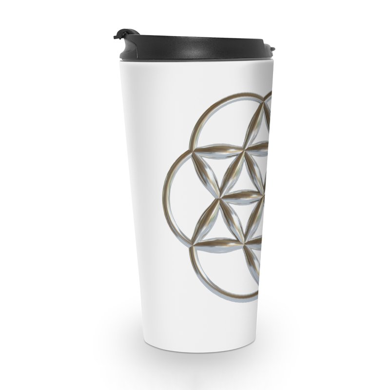 Flowering Seed of Life Ag Accessories Travel Mug by diamondheart's Artist Shop