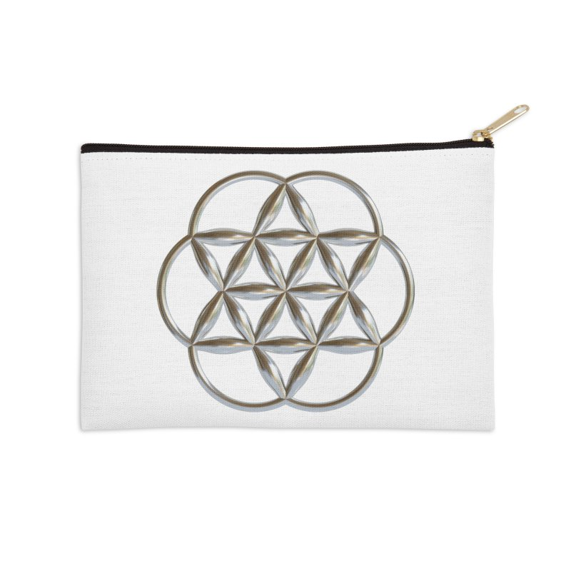 Flowering Seed of Life Ag Accessories Zip Pouch by diamondheart's Artist Shop