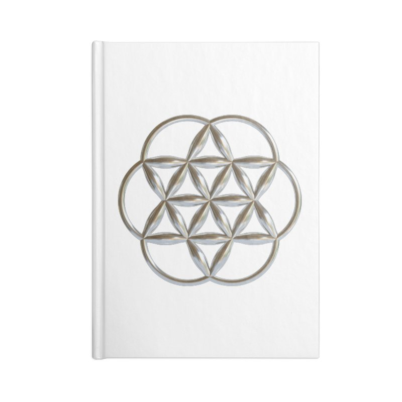 Flowering Seed of Life Ag Accessories Lined Journal Notebook by diamondheart's Artist Shop