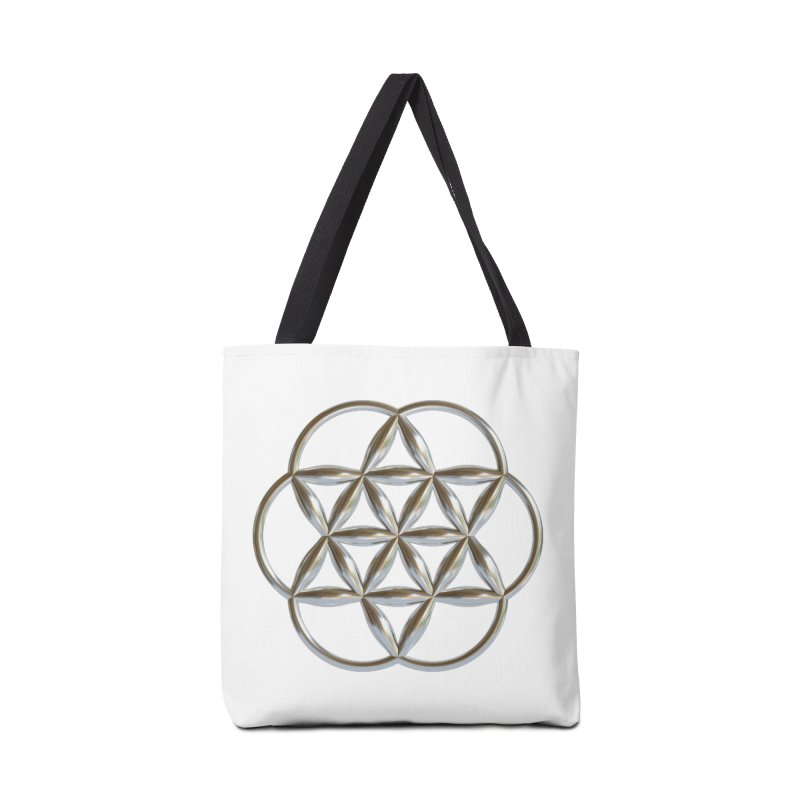 Flowering Seed of Life Ag Accessories Tote Bag Bag by diamondheart's Artist Shop