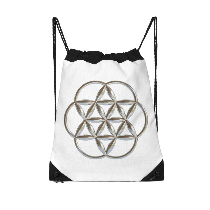 Flowering Seed of Life Ag Accessories Drawstring Bag Bag by diamondheart's Artist Shop
