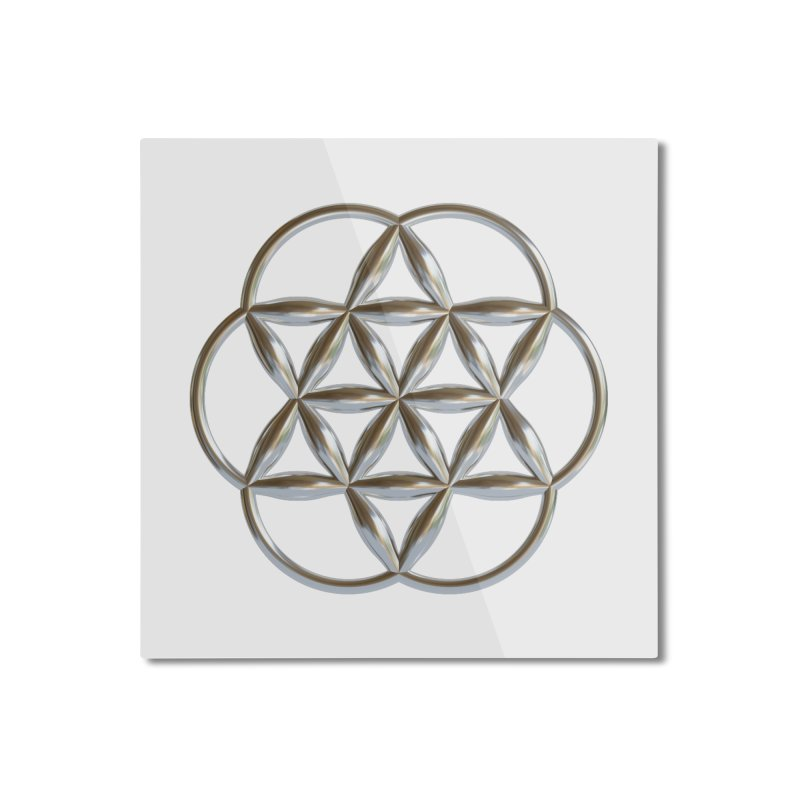 Flowering Seed of Life Ag Home Mounted Aluminum Print by diamondheart's Artist Shop