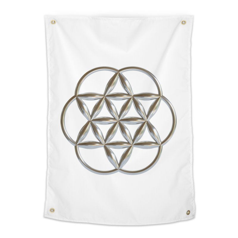 Flowering Seed of Life Ag Home Tapestry by diamondheart's Artist Shop