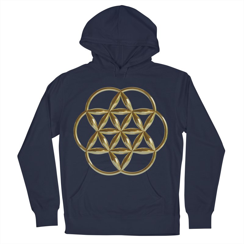 Flowering Seed of Life Au Men's Pullover Hoody by diamondheart's Artist Shop