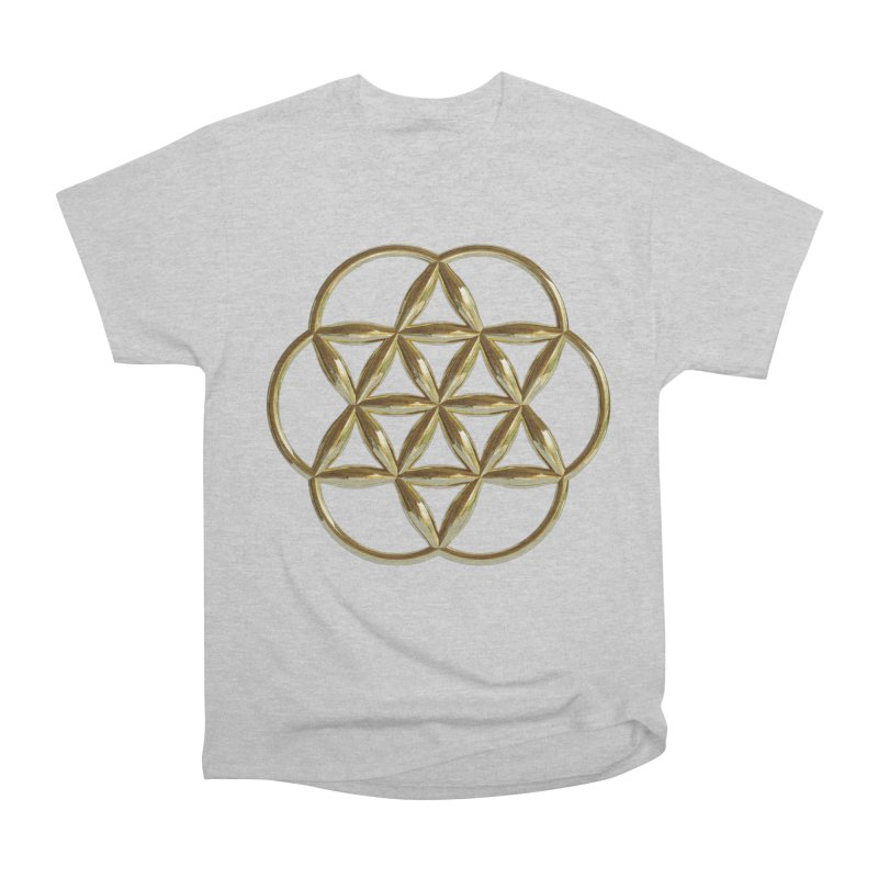 Flowering Seed of Life Au Women's Heavyweight Unisex T-Shirt by diamondheart's Artist Shop