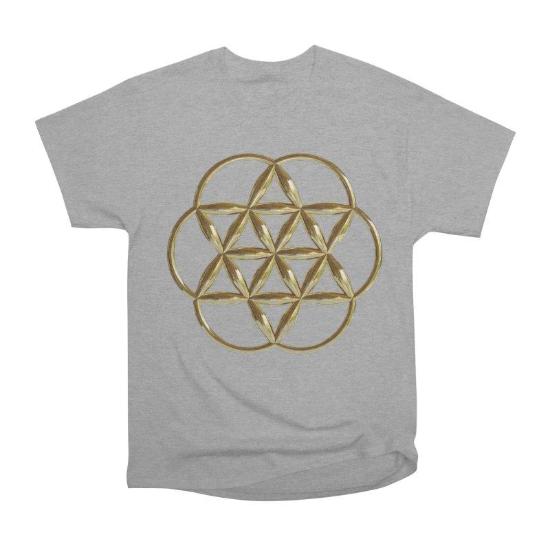 Flowering Seed of Life Au Women's Heavyweight Unisex T-Shirt by diamondheart's Artist Shop