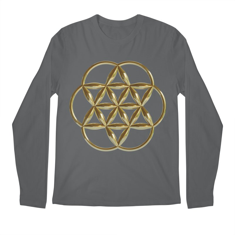 Flowering Seed of Life Au Men's Longsleeve T-Shirt by diamondheart's Artist Shop