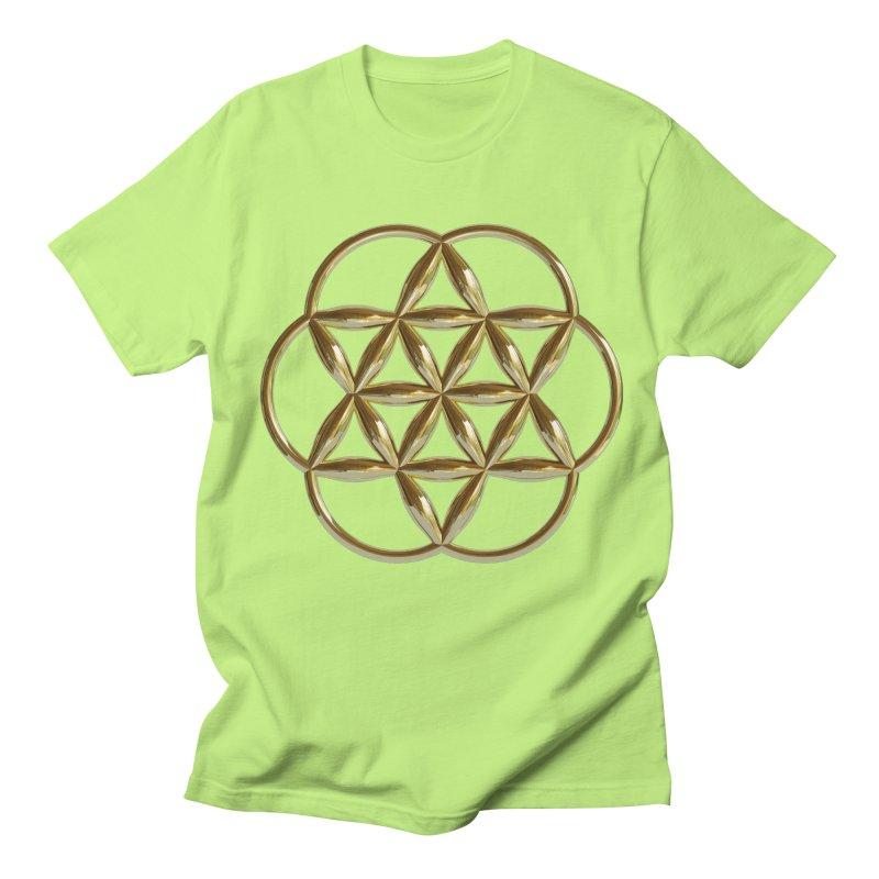 Flowering Seed of Life Au Men's T-Shirt by diamondheart's Artist Shop
