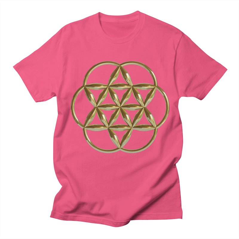 Flowering Seed of Life Au Women's Regular Unisex T-Shirt by diamondheart's Artist Shop