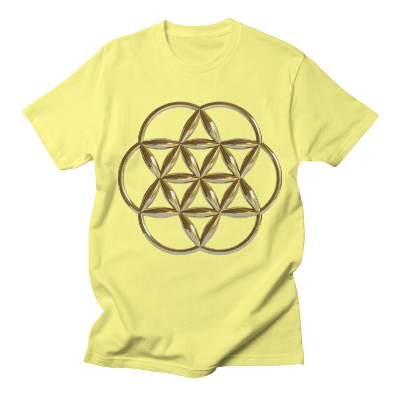 Flowering Seed of Life Au Men's T-Shirt by diamondheart's Artist Shop
