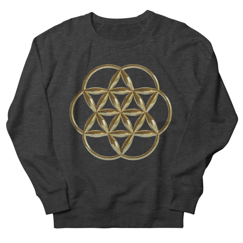 Flowering Seed of Life Au Women's French Terry Sweatshirt by diamondheart's Artist Shop
