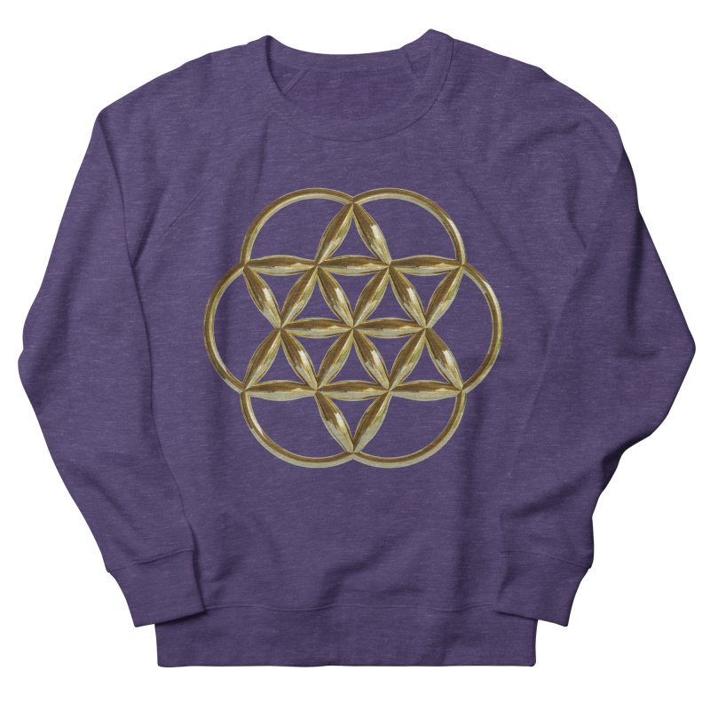 Flowering Seed of Life Au Women's Sweatshirt by diamondheart's Artist Shop