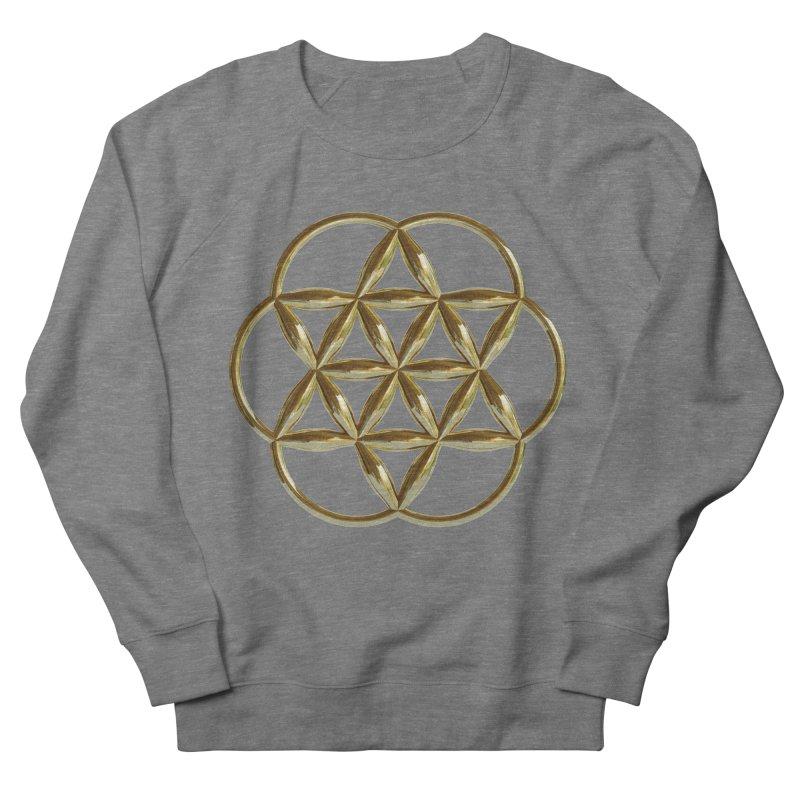 Flowering Seed of Life Au Women's Sweatshirt by diamondheart's Artist Shop