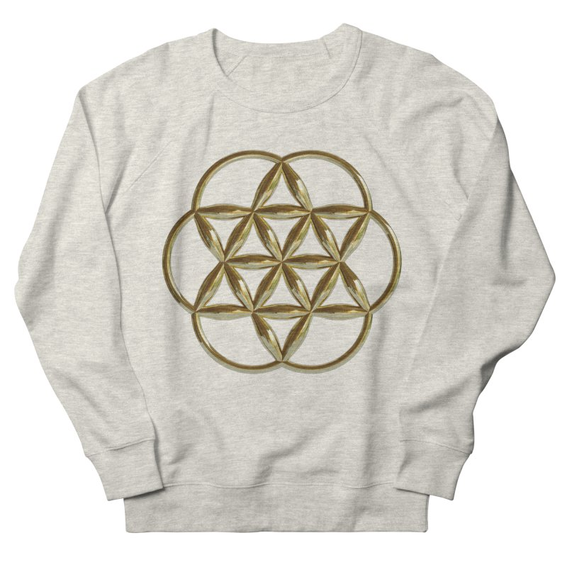 Flowering Seed of Life Au Men's French Terry Sweatshirt by diamondheart's Artist Shop