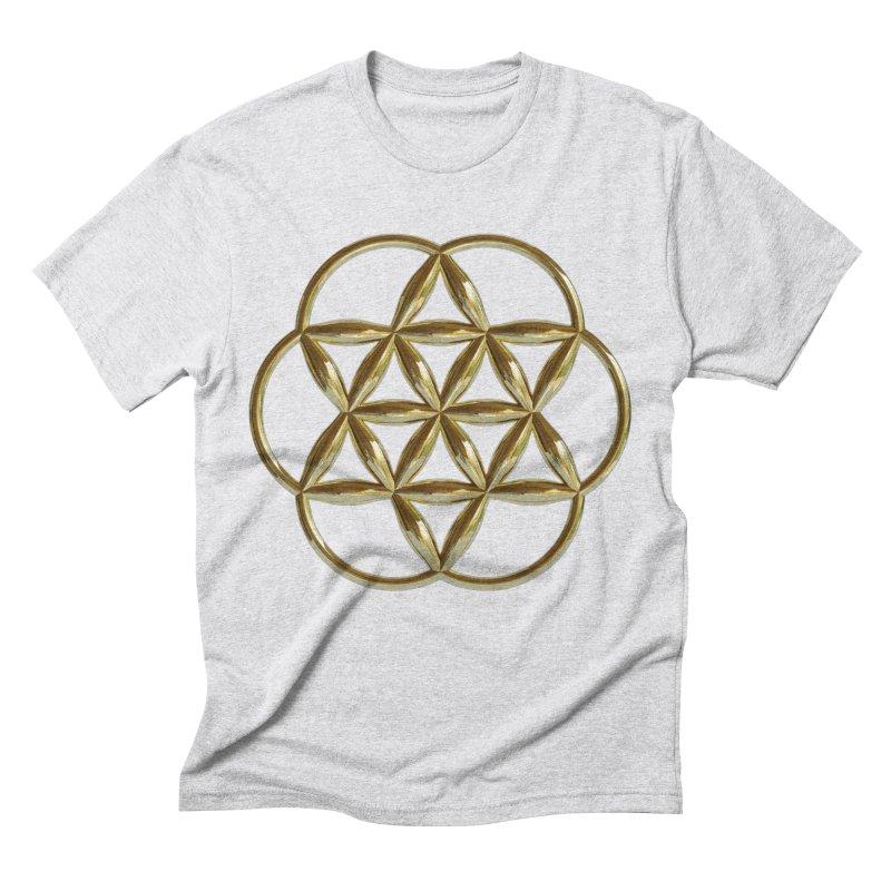 Flowering Seed of Life Au Men's Triblend T-Shirt by diamondheart's Artist Shop
