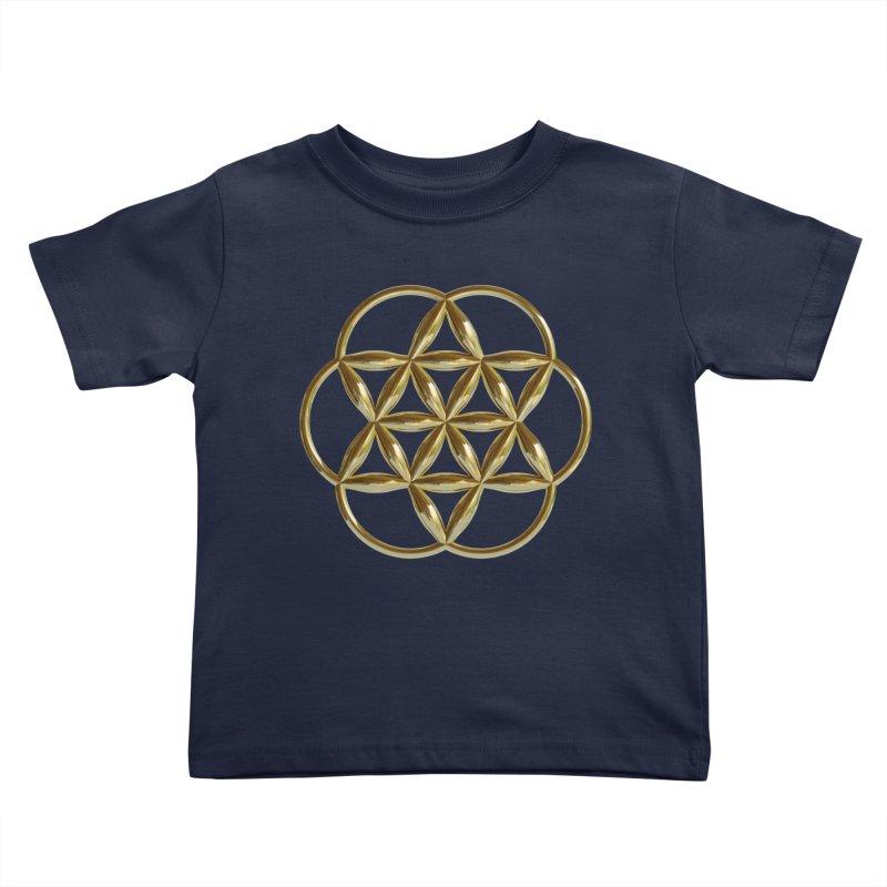 Flowering Seed of Life Au Kids Toddler T-Shirt by diamondheart's Artist Shop