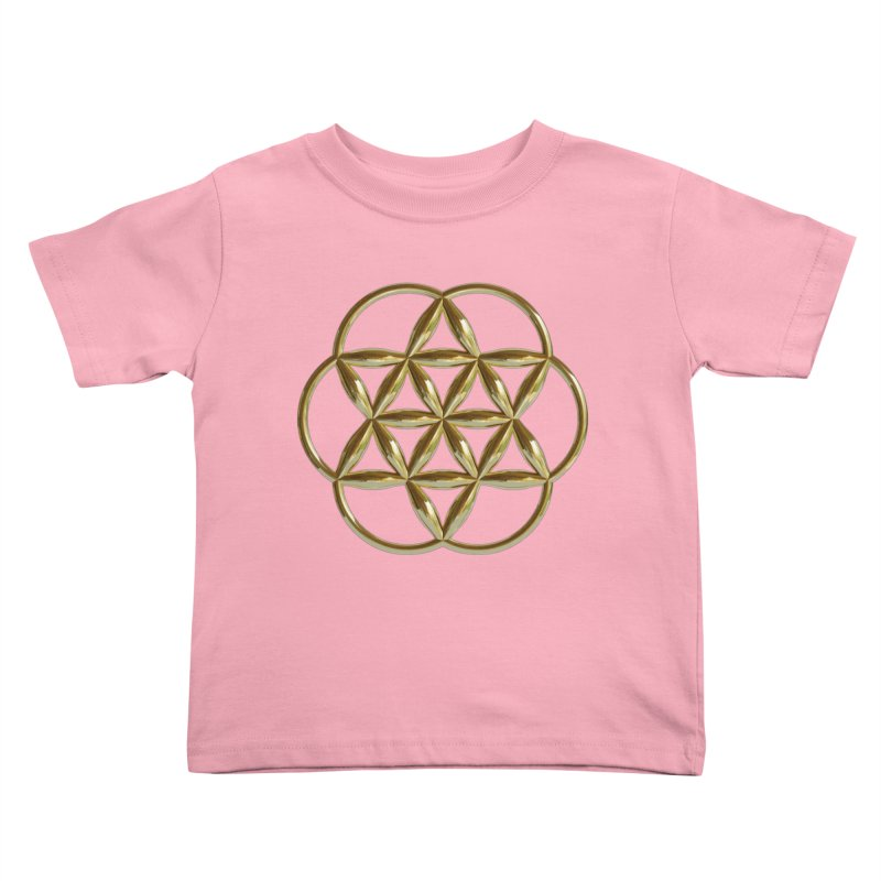 Flowering Seed of Life Au Kids Toddler T-Shirt by diamondheart's Artist Shop