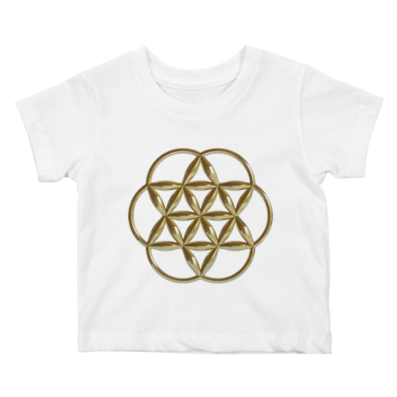 Flowering Seed of Life Au Kids Baby T-Shirt by diamondheart's Artist Shop