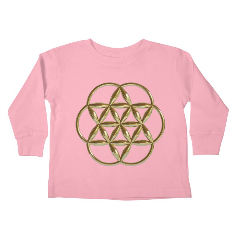 Flowering Seed of Life Au Kids Toddler Longsleeve T-Shirt by diamondheart's Artist Shop