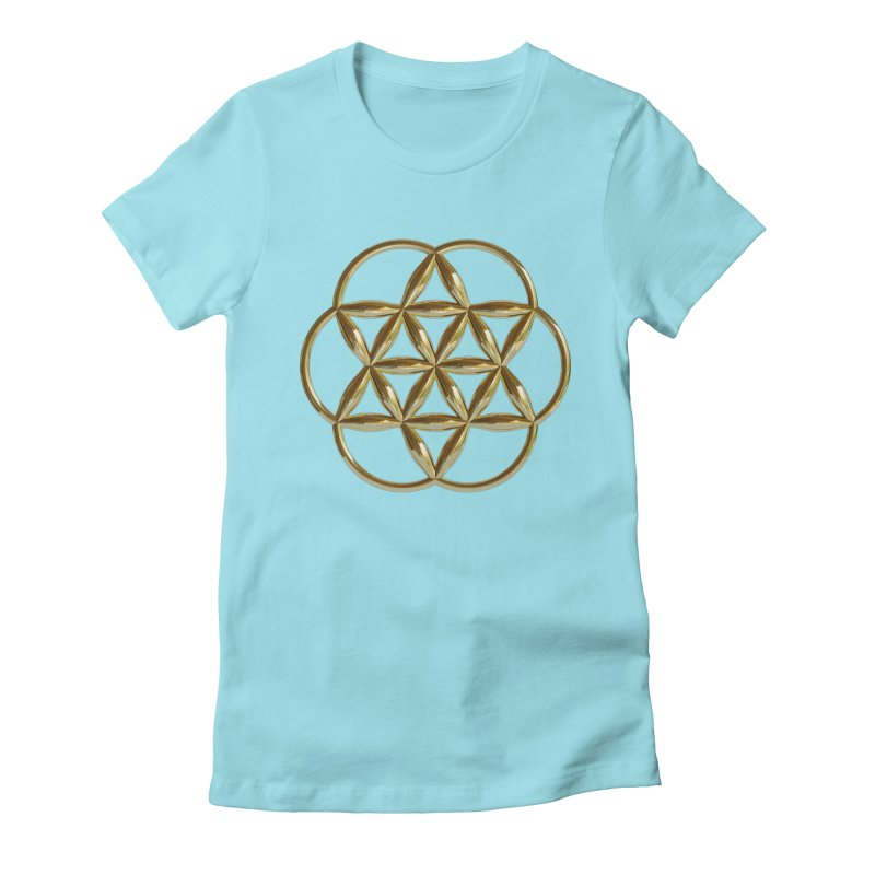 Flowering Seed of Life Au Women's T-Shirt by diamondheart's Artist Shop