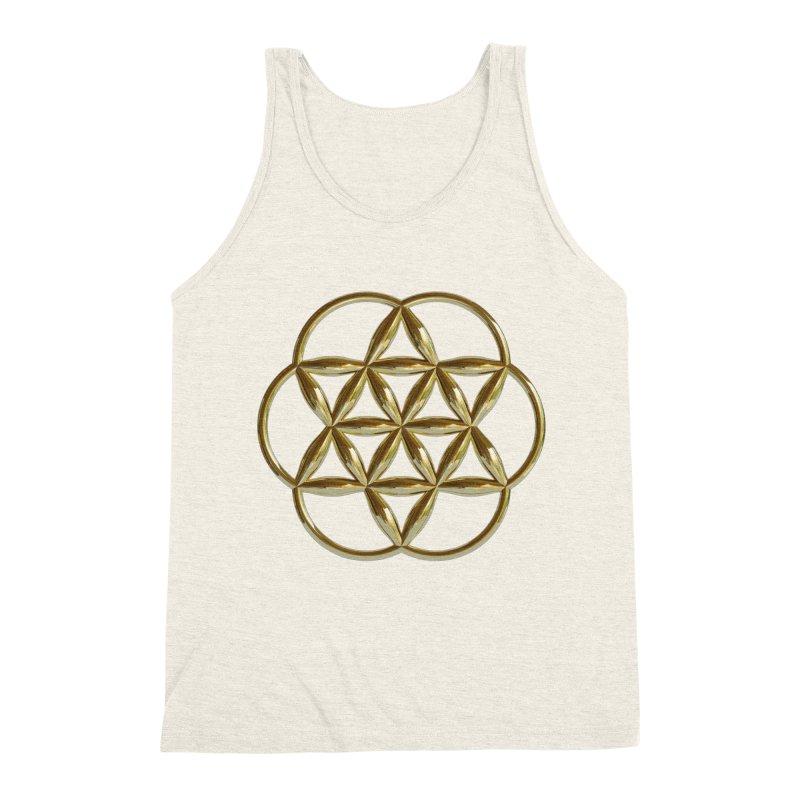 Flowering Seed of Life Au Men's Triblend Tank by diamondheart's Artist Shop